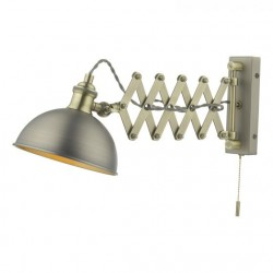 Dar Lighting GOV0761E Governor Extendable Single Spotlight Antique Chrome Antique Brass