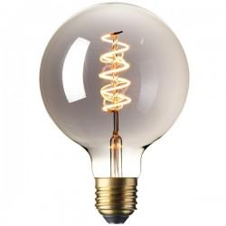 Calex 425783 LED Long Filament 125mm Globe 3.9W 240V ES Titanium 2100K Dimmable