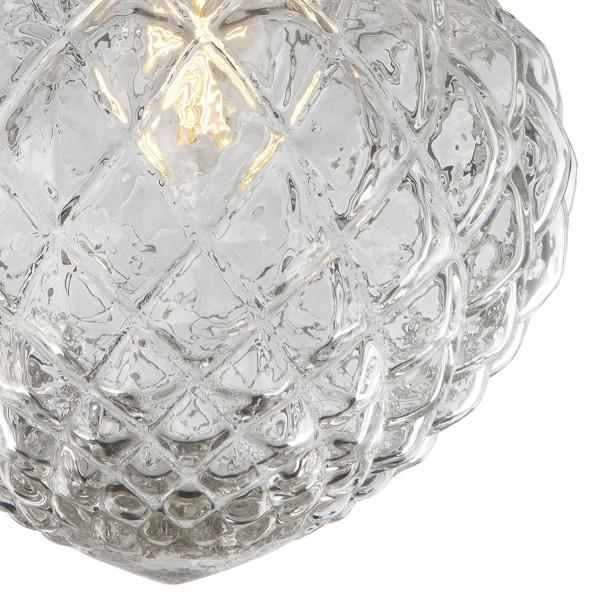 Dar Lighting OZI5275 Oziel Semi Flush Antique Brass & Glass