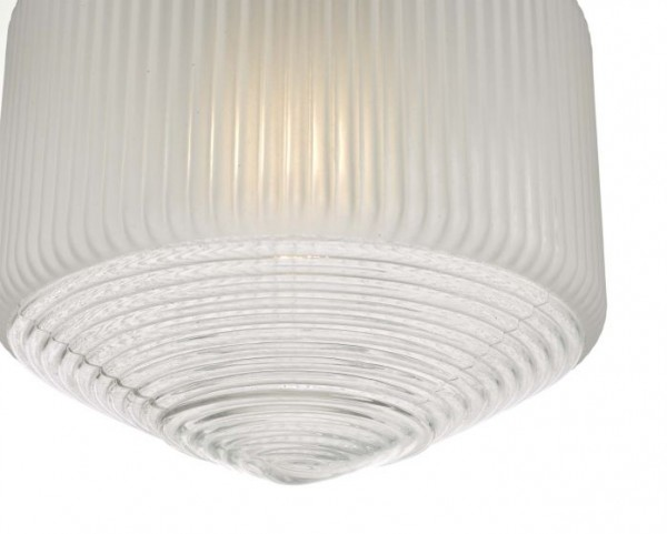 Dar Lighting NIS0108 Nisha 1 Light Pendant Polished Chrome And Frosted/Clear Glass
