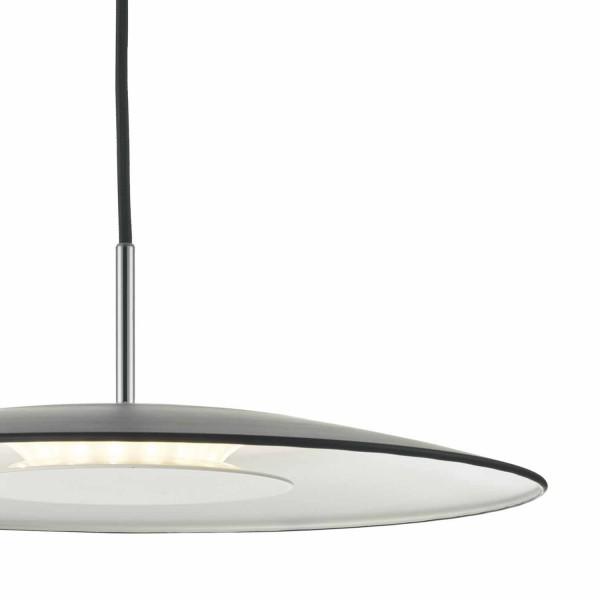 Dar Lighting ENO0122 Enoch Pendant LED Black & Stainless Steel