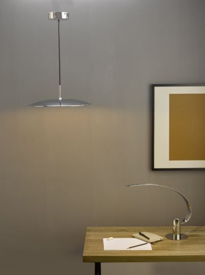 Dar Lighting ENO0150 Enoch Pendant Polished Chrome LED