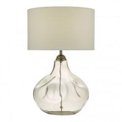 Dar Lighting ESA4210 Esarosa Table Lamp Smoked Glass With Shade