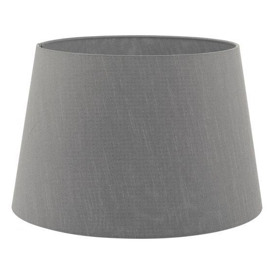 Dar Lighting CEZ1639 Cezanne 40cm Slate Grey Faux Silk Tapered Drum