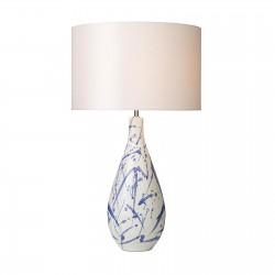 Dar Lighting OLK4223 Olka Table Lamp Ceramic & Blue Base Only