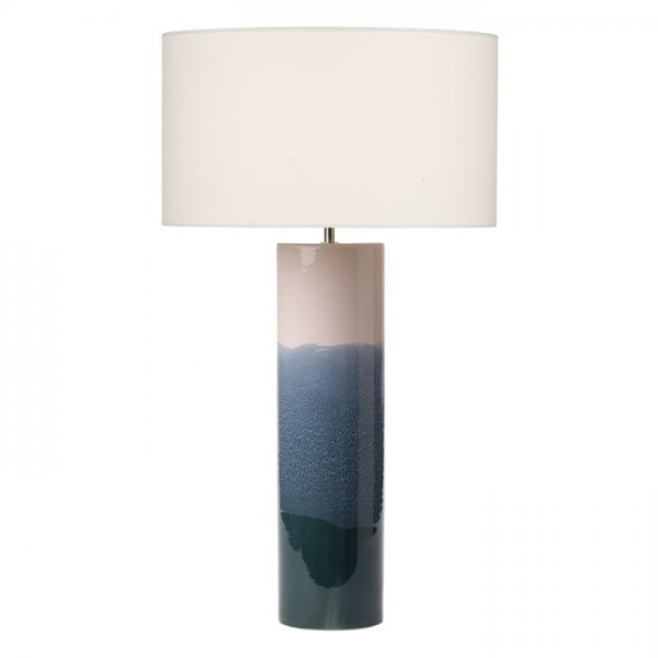 Dar Lighting IGN4255 Ignatio Table Lamp Ceramic Pink & Blue Base Only