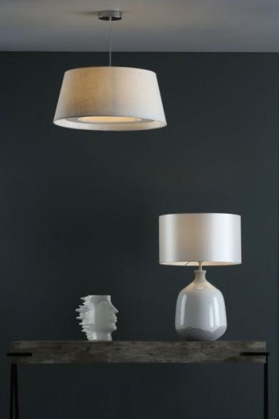 Dar Lighting NUS422 Nushrah Table Lamp Ceramic & White Base Only
