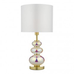 Dar Lighting KIA4255 Kiandra Table Lamp Mu Lighti Coloured With Shade