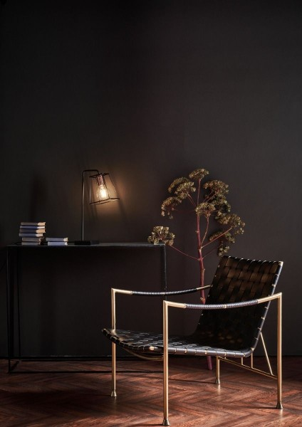 Dar Lighting TOW4122 Tower Table Lamp Black & Copper