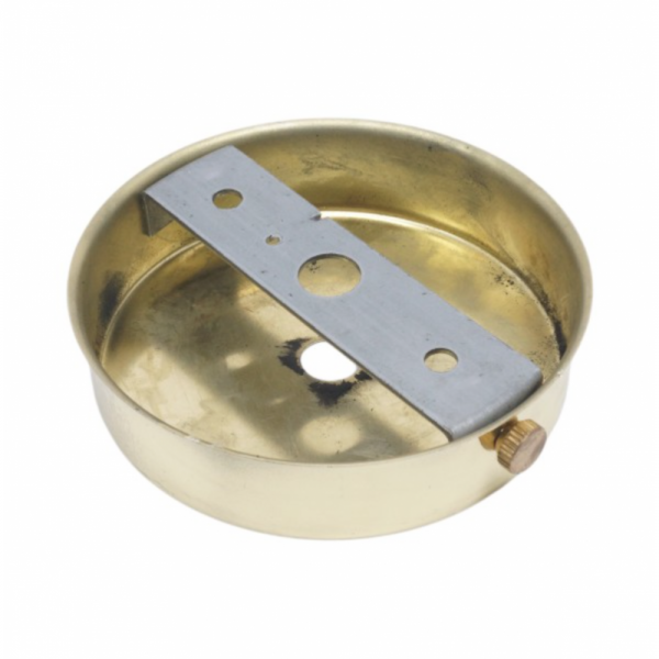S.Lilley & Son Q040PL 80mm Single Hole Polished Brass Ceiling Plate
