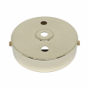 S. Lilley & Son D580/2P 100mm Three Hole Polished Brass Ceiling Plate