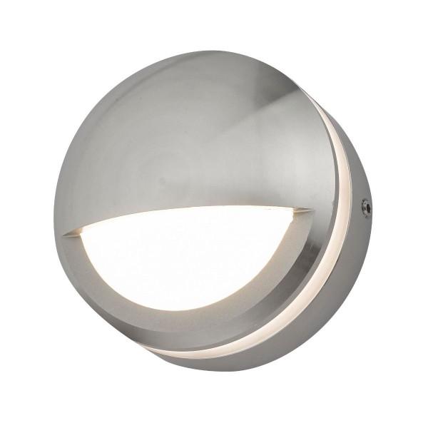 Dar Lighting AKO3268 Akos Outdoor Wall Light Aluminium Eyelid IP65 LED