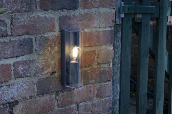 Dar Lighting QUE1639 Quenby 1 Light Wall Light Anthracite IP65