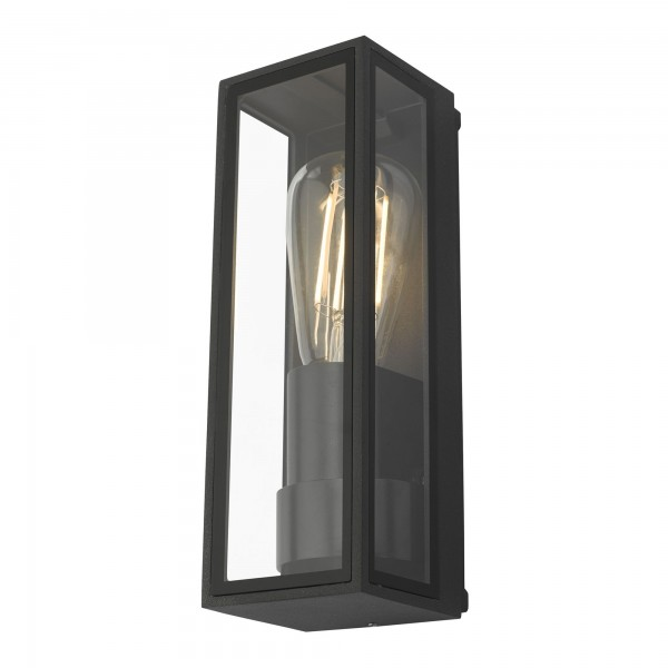 Dar Lighting TAR1639 Taryn 1 Light Wall Light Anthracite IP65