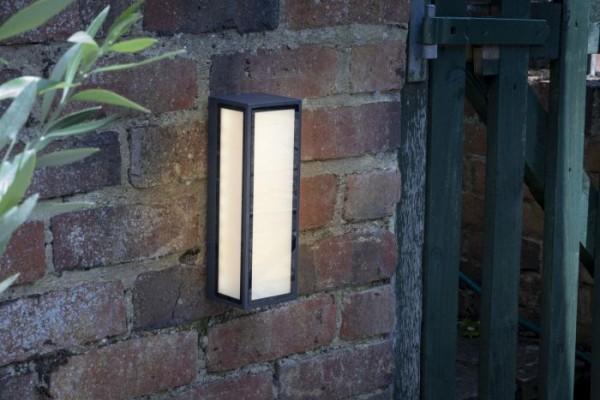 Dar Lighting ARH2139 Arham 1 Light Wall Light Anthracite IP65 LED