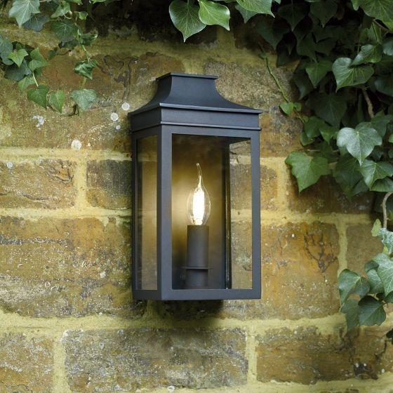 Dar Lighting VAP5222 Vapour Coach Lantern Wall Light Black IP44