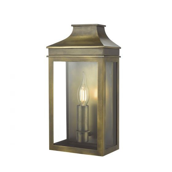 Dar Lighting VAP5245 Vapour Coach Lantern Wall Light Weathered Brass IP44