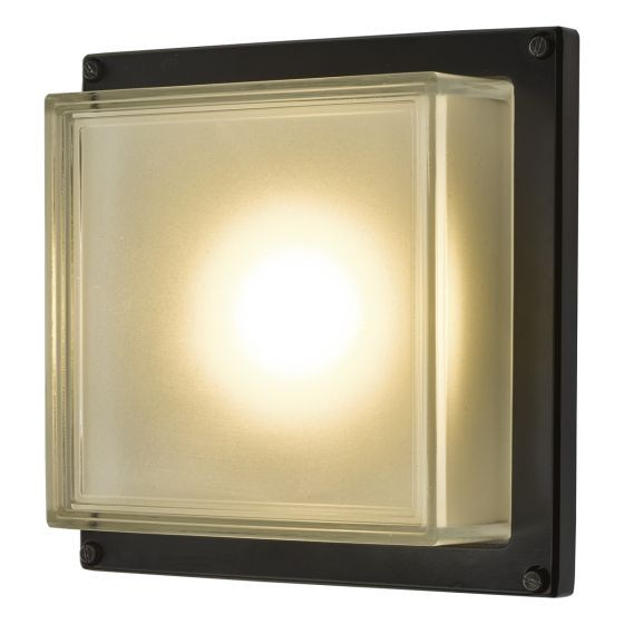 Dar Lighting AQU2122 Aquilina Wall Light Matt Black LED IP44
