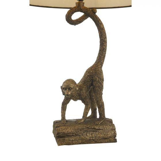 Dar Lighting DWA4222 Dwayne Table Lamp Bronze C/W Shade