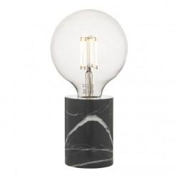 Dar Lighting JAX4122 Jaxon Table Lamp Marble & Black