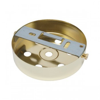 S. Lilley & Son D580/6P 100mm Seven Hole Polished Brass Ceiling Plate