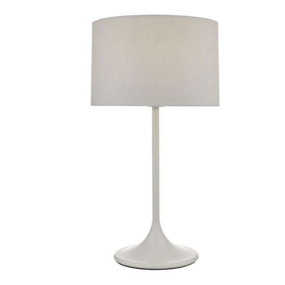 Dar Lighting FUN4239 Funchal Table Lamp Grey With Shade