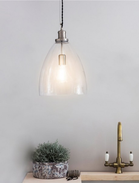 Garden Trading LAHO05 Large Hoxton Pendant Light in Silver