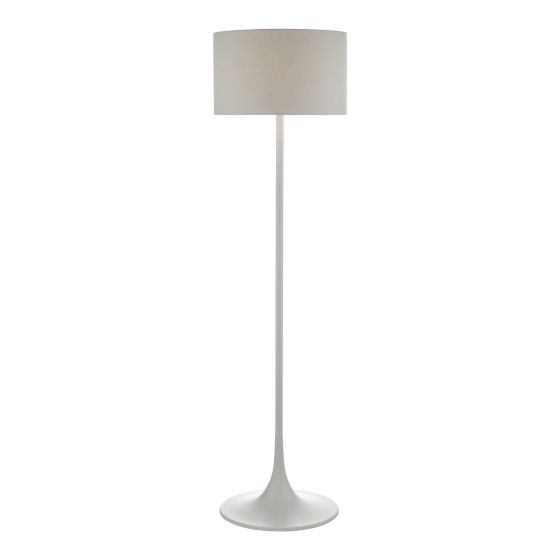 Dar Lighting FUN4939 Floor Lamp Grey With Shade
