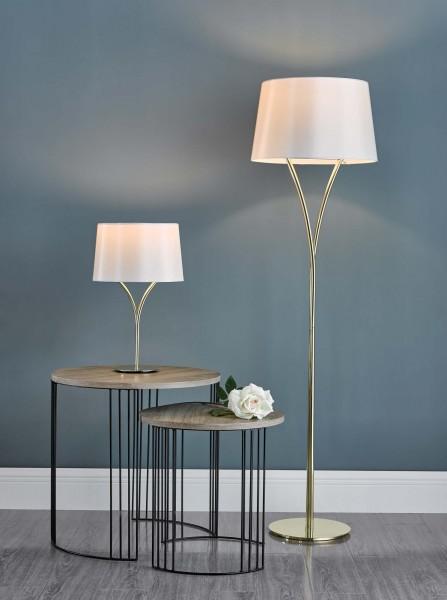Dar Lighting KIN4235 Kinga Table Lamp Polished Gold With Shade