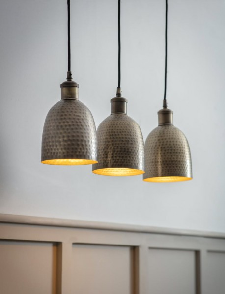 Garden Trading LAKI04 Brass Trio of Kielder Pendant Light