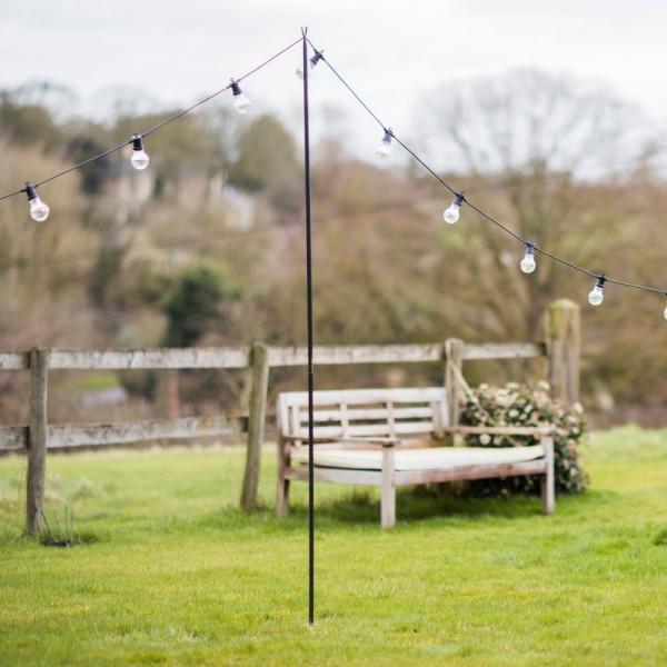 Garden Trading POFE01 Raw Metal Festoon Pole