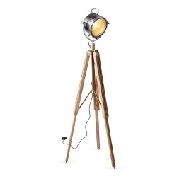 Culinary Concepts CC-2436 Wooden Tripod Floor Lamp