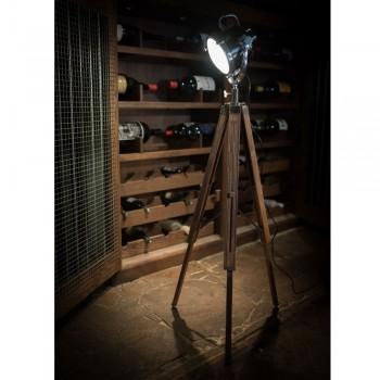 Culinary Concepts CC-2436 Wooden Tripod Floor Lamp