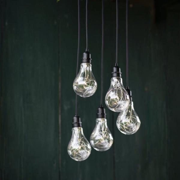 Garden Trading LAFE06 Indoor/outdoor Festoon Cluster Lights Battery Powered