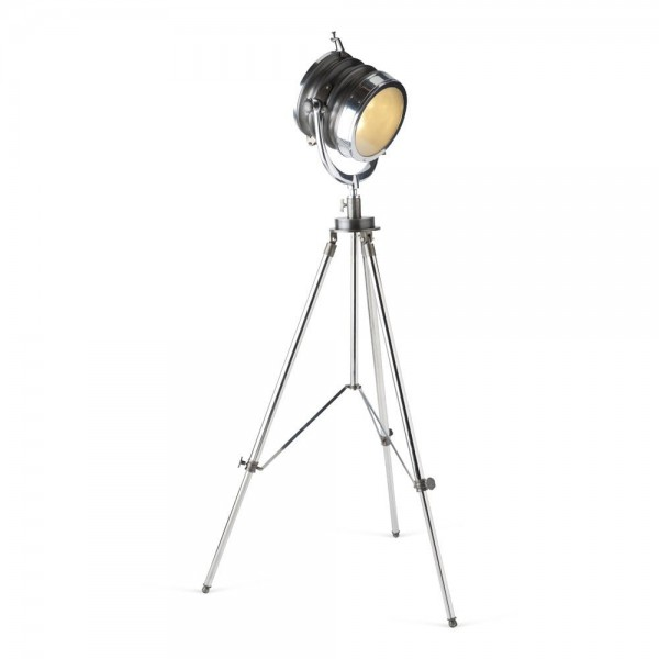 Culinary Concepts CC-2438 Two Tone Finish Spotlight Floor Lamp With Round Tripod