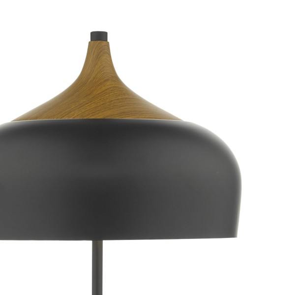 Dar Lighting GAU4222 Gaucho 2 Light Table Lamp Black