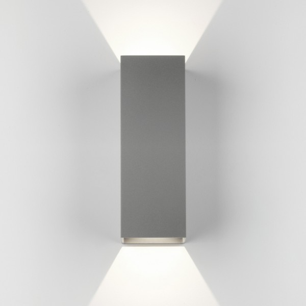 Astro Oslo 255 LED Outdoor Wall Light in Textured Grey