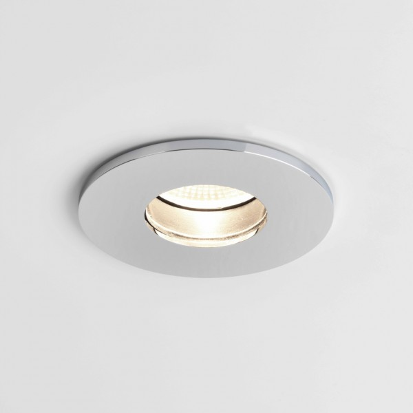 Astro Obscura Round Bathroom Downlight in Polished Chrome