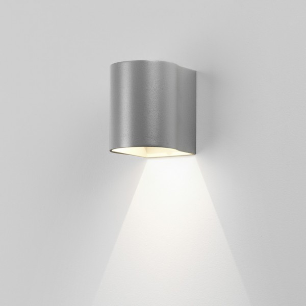 Astro Dunbar 100 LED Outdoor Wall Light in Textured Painted Silver