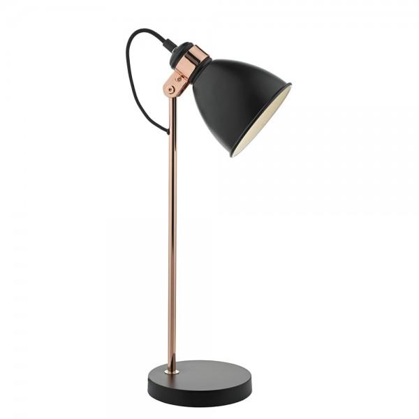 Dar Lighting FRE4222 Frederick Task Lamp in Black & Copper