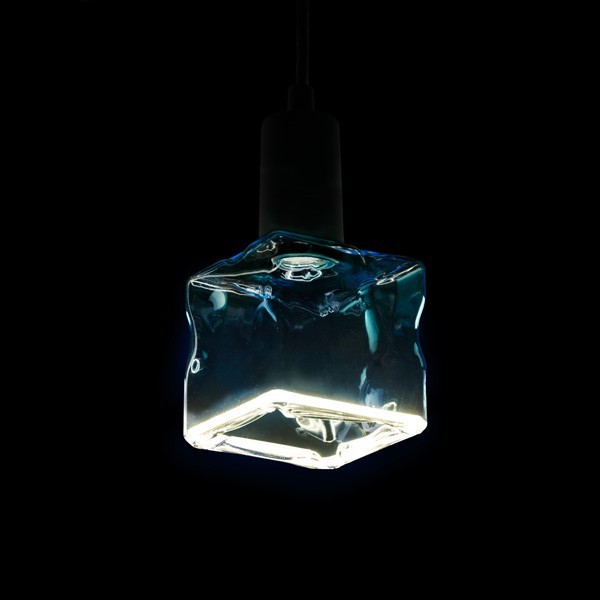 Segula 50049 Floating Line 8W 4000K Dimmable E27 Blue Floating Ice Cube LED Bulb