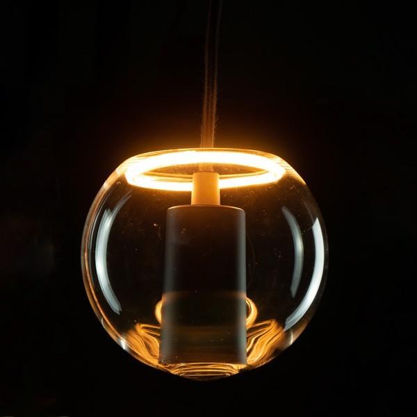 Segula 50054 Floating Line 8W 2200K Dimmable E27 Clear Floating Globe 125 Inside LED Bulb