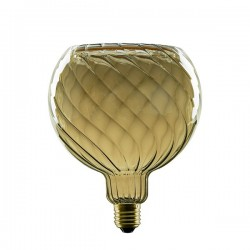 Segula 50059 Floating Line 8W 2200K Dimmable E27 Twisted Smokey Grey Floating Globe 150 LED Bulb
