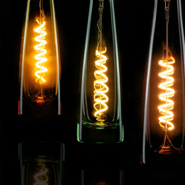 Segula 50105 Design Line 8W 2200K Dimmable E27 Black Flower Vase LED Bulb with Spiral Filament