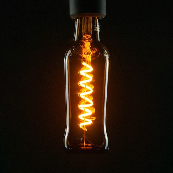 Segula 50126 Design Line 8W 1800K Dimmable E27 Brown Beer Bottle LED Bulb with Spiral Filament