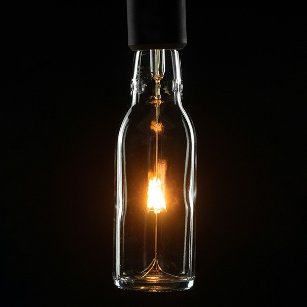 Segula 50129 Design Line 3.5W 2200K Dimmable E27 Clear Beer Bottle LED Bulb with Point Filament