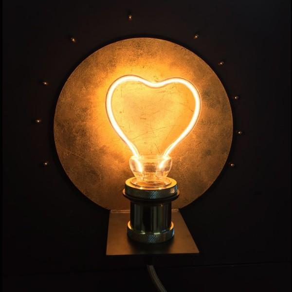 Segula 50148 Art Line 8W 2200K Dimmable E27 Clear Heart LED Bulb