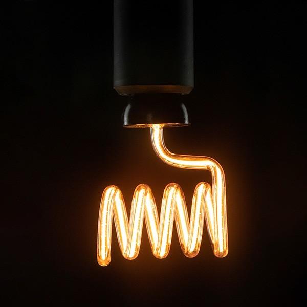 Segula 50157 Art Line 12W 2200K Dimmable E27 Clear Loop Cross LED Bulb