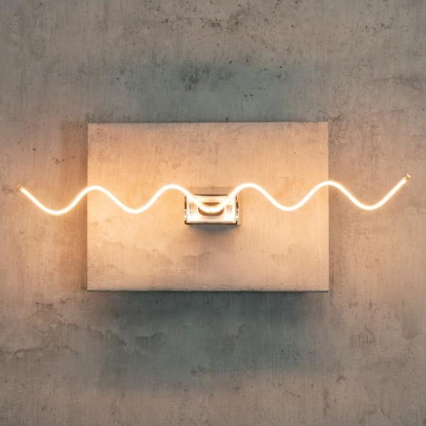 Segula 50175 Art Line 8W 2200K Dimmable S14d Clear Wave LED Bulb