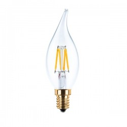 Segula 50206 Vintage Line 3.5W 2200K Dimmable E14 Clear Candle Flame LED Bulb